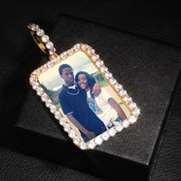 Customized Portrait Medallion With a Rope Chain