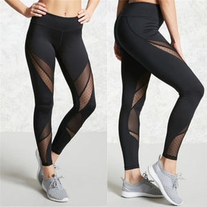 Slash Mesh Patchwork Leggings