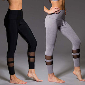 Dual Mesh Slit High Waist Leggings