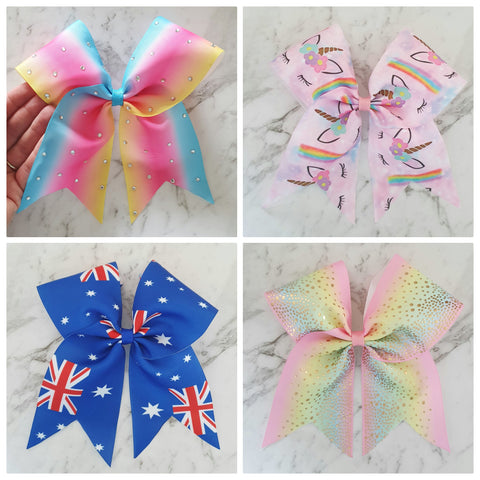 O.T.T. Cheer Bow Hair Clips