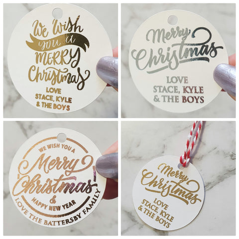 Personalised Christmas Gifts Tags - Circle