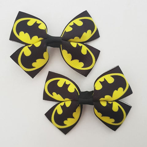 Batman RIBBON HAIR CLIPS