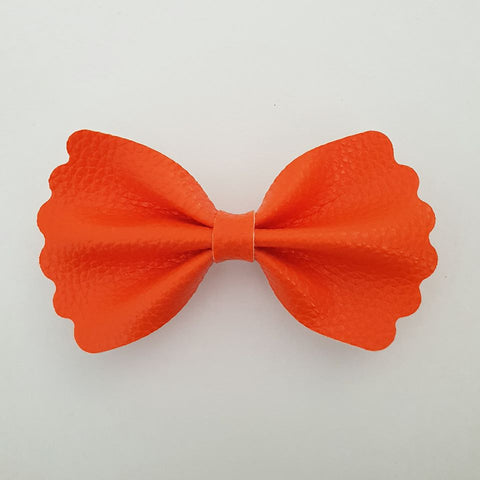 "Orange ""Milly"" Pinch Bow"