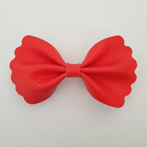 "Watermelon Red ""Milly"" Pinch Bow"