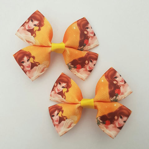 Belle - Beauty and the Beast RIBBON HAIR CLIPS