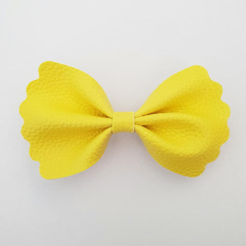 "Yellow ""Milly"" Pinch Bow"