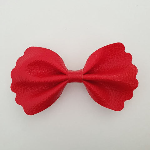 "Red ""Milly"" Pinch Bow"