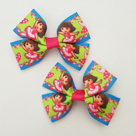 Dora the Explorer RIBBON HAIR CLIPS