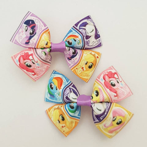 My Little Pony- MLP - RIBBON HAIR CLIPS