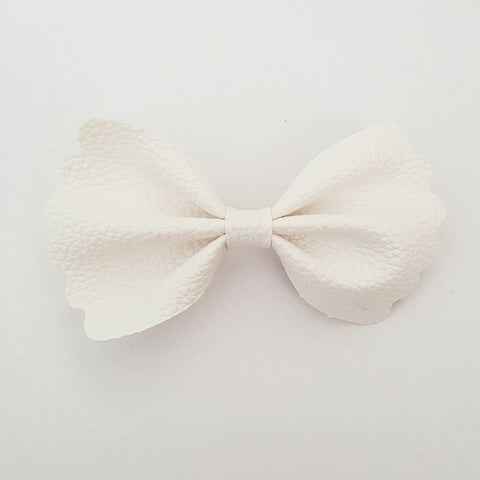 "White ""Milly"" Pinch Bow"