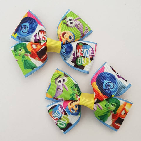 Inside Out RIBBON HAIR CLIPS