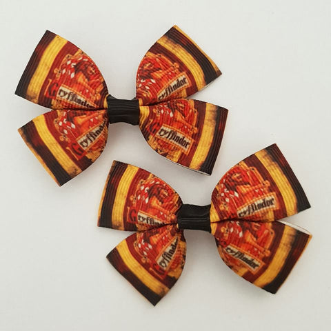 Gryffindor Harry Potter RIBBON HAIR CLIPS
