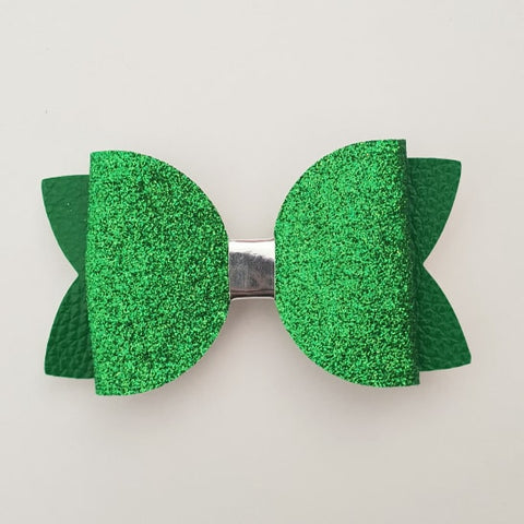 "Green Glitter ""Maria"" Style Bow"