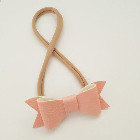 "Baby Pink ""LILLY"" Style Bow Headband"