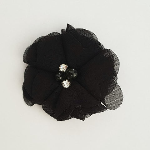 Black Flower Hair Clip