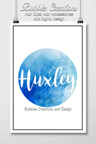 Blue Water Colour Name Design- Personalised