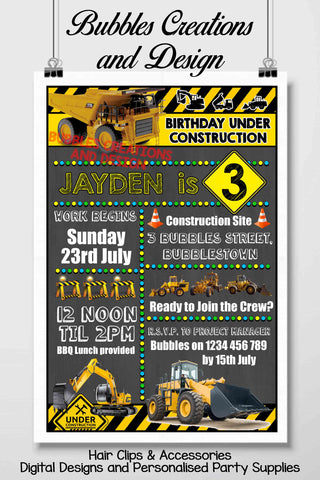 Construction Invitation Design