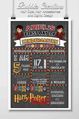 Harry Potter First Day Of School Designs