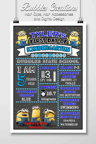 Minions First Day Of School Design