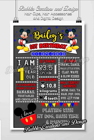 Mickey Mouse Birthday Board Design