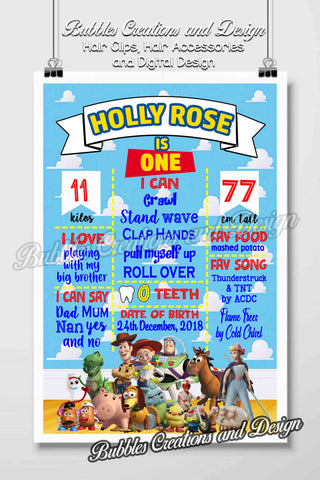 Toy Story - Birthday Board Design