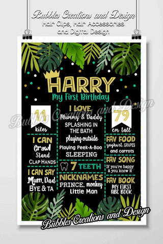 Wild One Birthday Board Design