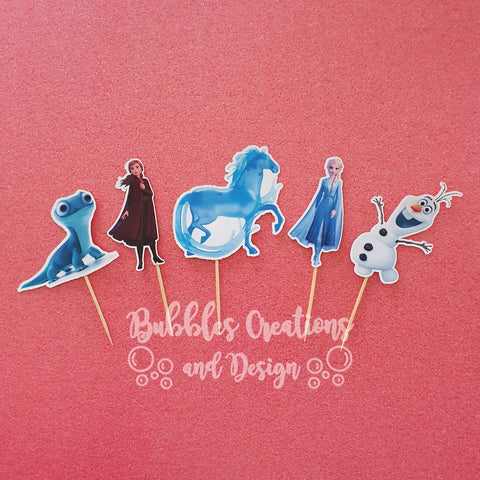 Frozen 2 Characters - Cupcake Toppers