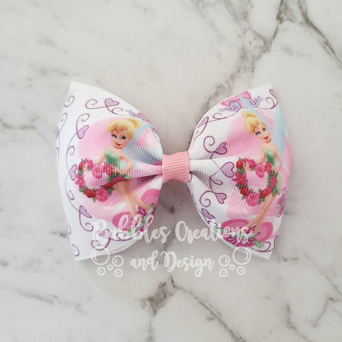 "Tinkerbell  ""Tux"" Style Bow"