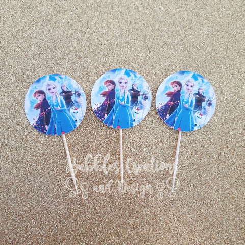 Frozen - Cupcake Toppers (4cm round)