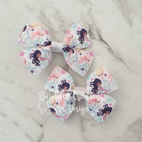 Mermaids RIBBON HAIR CLIPS