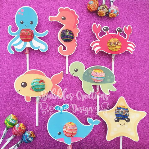 Under the Sea - Lollipop Holders