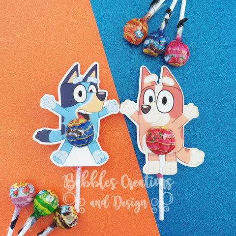 Bluey & Bingo - Lollipop Holders