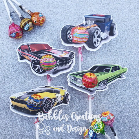 Hotwheels - Lollipop Holders