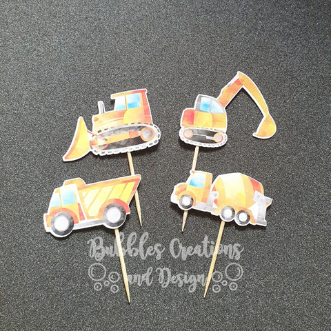 Construction - Cupcake Toppers