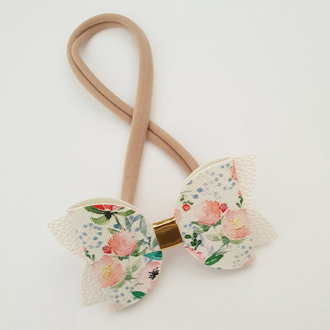 "Wildflowers Floral ""Maria"" Style Bow Headband"