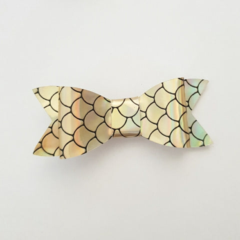 "Gold Mermaid Scales ""LILLY"" Style Bow"