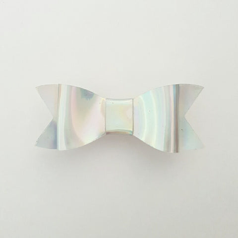 "Silver Shimmers ""LILLY"" Style Bow"