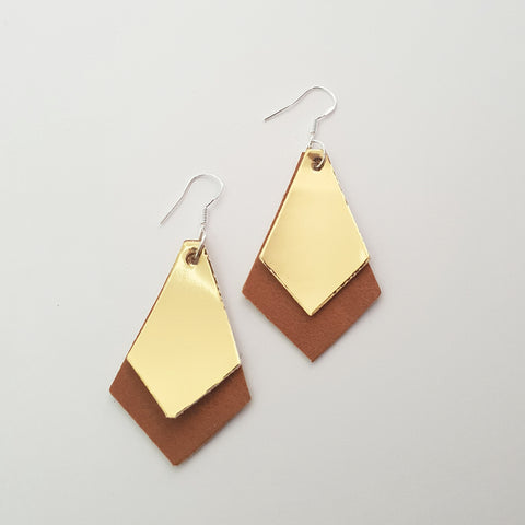 Brown & Gold Earrings
