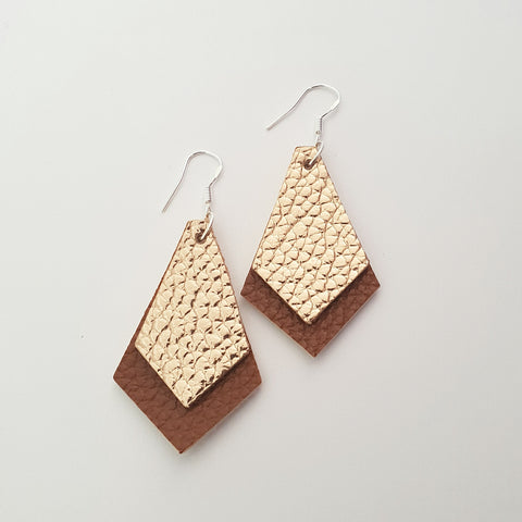 Brown & Rose Gold Earrings