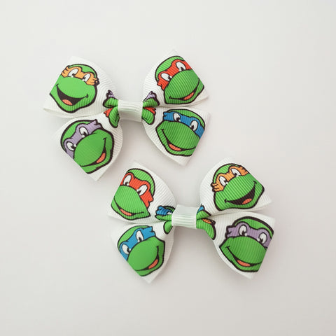 Ninja Turtles TMNT RIBBON HAIR CLIPS