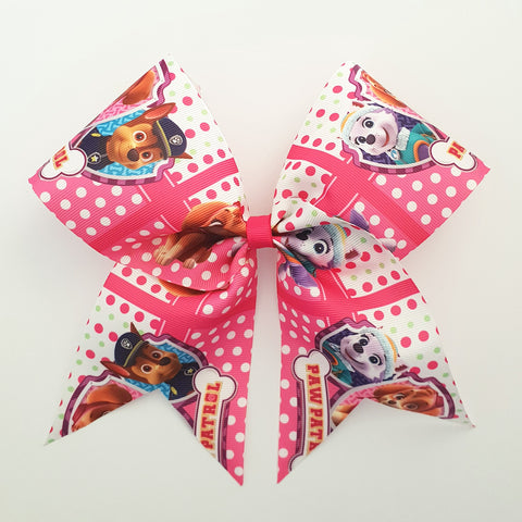 "Paw Patrol ""O.T.T. CHEER"" Style Bow"