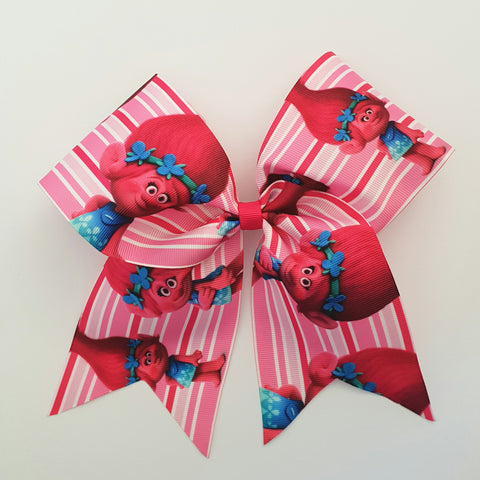 "Poppy Trolls ""O.T.T. CHEER"" Style Bow"