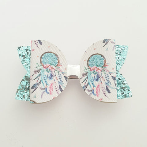 "Dreamcatcher Blue ""Maria"" Style Bow"