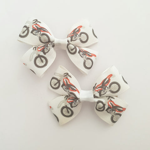 Motorbikes RIBBON HAIR CLIPS