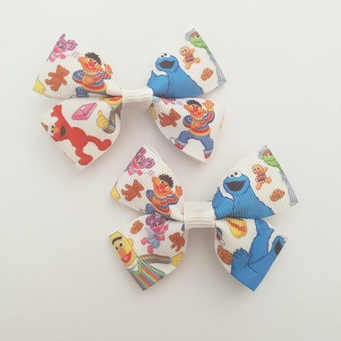 Sesame Street RIBBON HAIR CLIPS