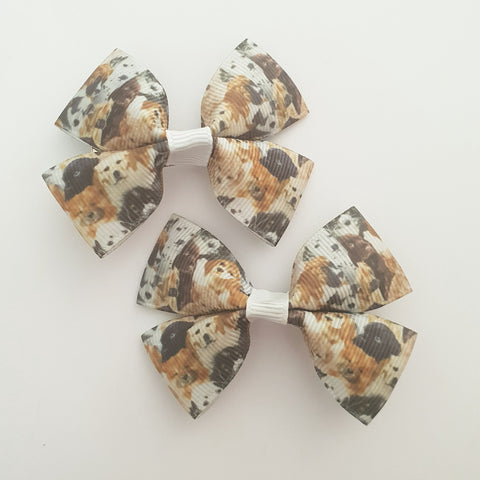 Dogs RIBBON HAIR CLIPS