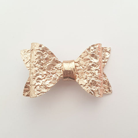 "Gold Crackle ""EVIE"" Style Bow"