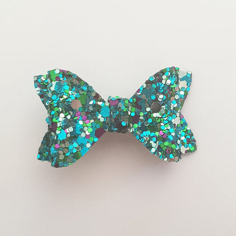 "Aqua and Purple ""EVIE"" Style Bow"