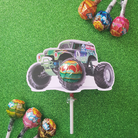 Grave Digger Monster Truck - Lollipop Holders