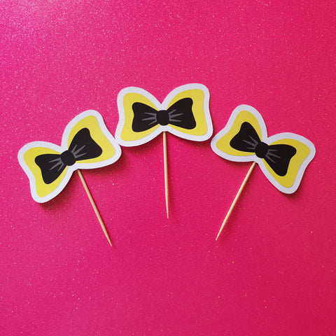 Emma Wiggles Bow - Cupcake Toppers